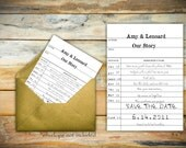 Amy Collection - Printable Wedding Save The Date Card
