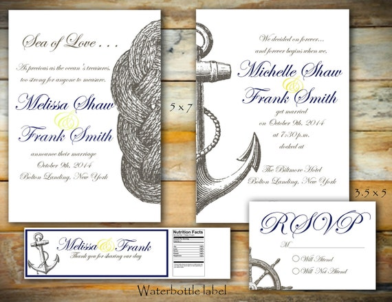 Nautical Collection - Printable Wedding Collection