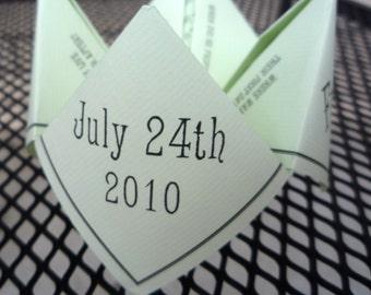 BLACK Wedding Cootie Catcher (PDF - PRINTABLE)
