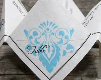 Wedding Place Card Cootie Catcher (PDF - PRINTABLE)