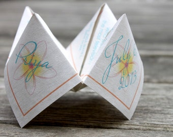 4 Sets of Questions - Wedding Cootie Catcher (PDF - PRINTABLE)