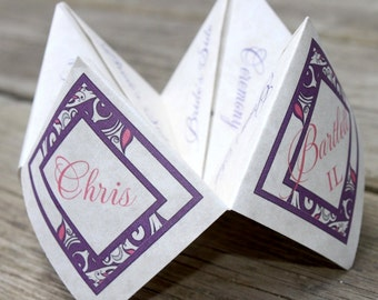 Wedding Ceremony Program Cootie Catcher (PDF - PRINTABLE)