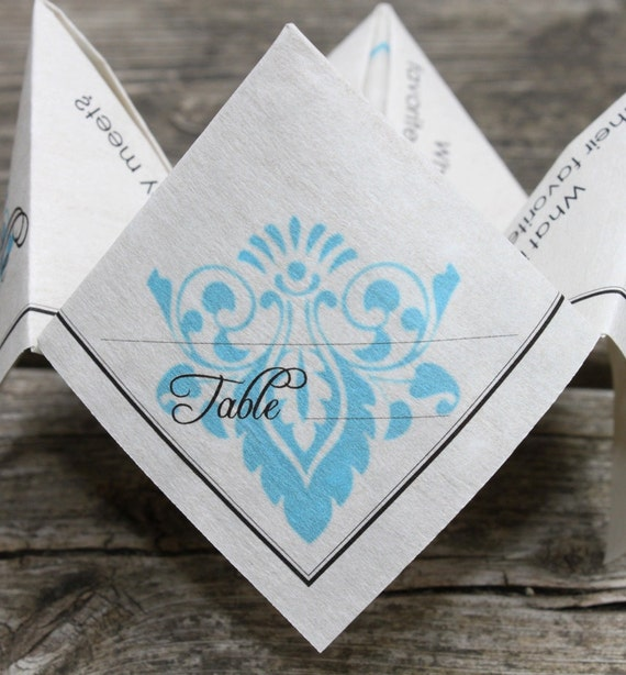 Wedding Place Card Cootie Catcher (PDF - PRINTABLE)