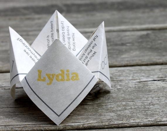 Cootie Catcher Wedding Invitation: Wedding Mad Lib Cootie Catcher PDF PRINTABLE