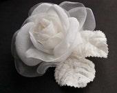 Rose hair clip -  Wedding Hair Accessories - Wedding Hair Flower, Bridal hair flower - Wedding hair clip -  Bridal hair clip