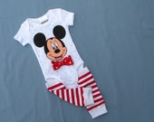Mickey Mouse Onepiece-Bodysuit with Leggings, Last One! Baby Boy, size 3-6 month