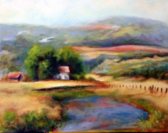RURAL RETREAT  Original Oil Painting