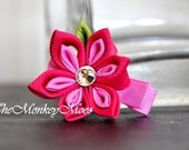 Flower Fabric Hair Clip for Girls - PinkPinkleberry Medium Starlit by TheMonkeyMoos