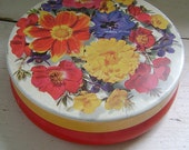 Vintage French Cote D'or Flower Tin