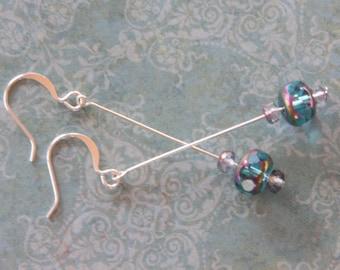 Pretty Elegant - Aqua and Lavender Earrings