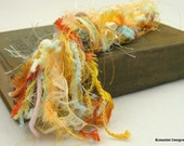 Small Art Fiber Bundle - Creamsicle, 13 Yards of Novelty Yarns