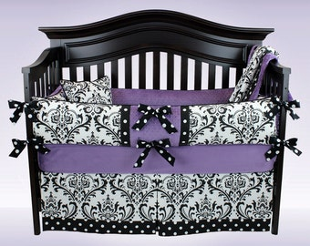 SALE! AVA 5 piece crib bedding set - Custom baby bedding