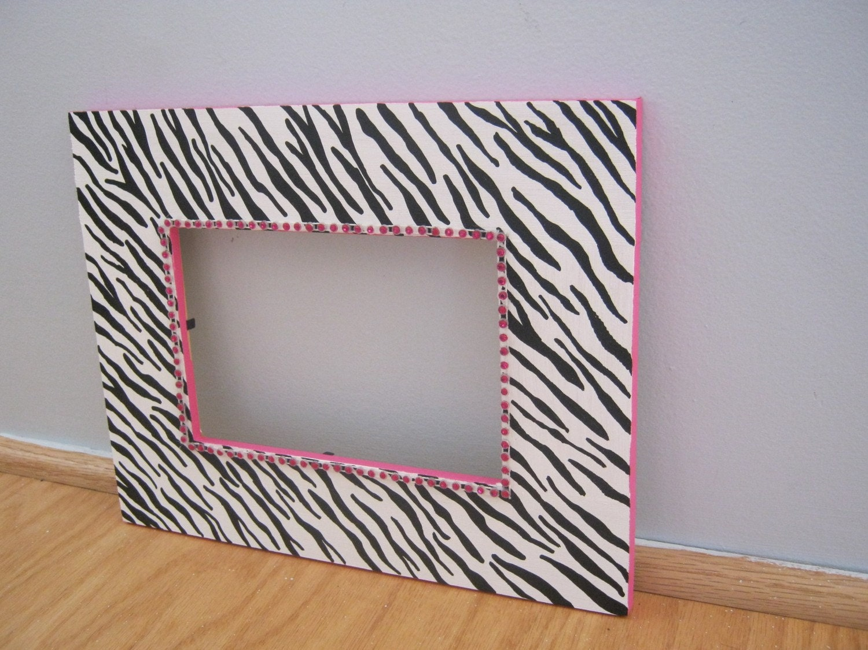 Zebra Print Pitur Fram...