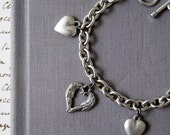 Love, Valentine's Day, Romantic Valentine Charm Bracelet: Angel Hear,includes keepsake pouch and giftbox