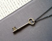 Vintage Skeleton Key Necklace: Serenity, OOAK, keepsake pouch and gift box included