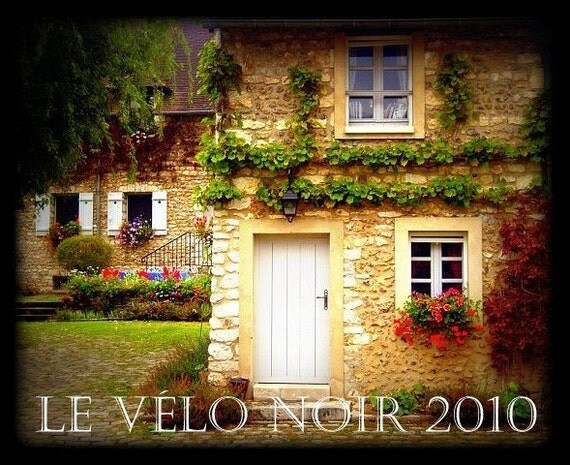 France, Country House in Giverny, Countryside, Flowers, Garden, Jardin, 8 x 10 (MATTED to fit 11x14 frame) fine art print