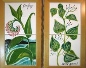 Healing Herbs Yam and Comfrey in tiles