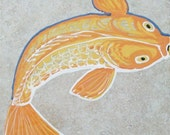 Floor Tile Koi Fish Good Luck