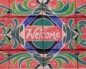 Tile Rug Welcome Entrance In Brilliant Original Design