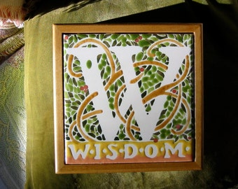 WISDOM Tile Box Green Leaves