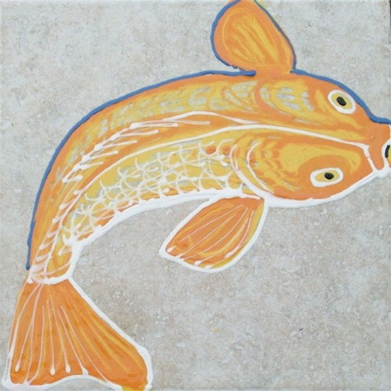 Floor Tile Koi Fish Good Luck By Chinmayo On Etsy