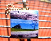 my old kentucky home ceramic mosaic tile pendant