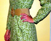 REDUCED -- Vintage green floral dress