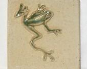 Jumping Frog Handmade Tile