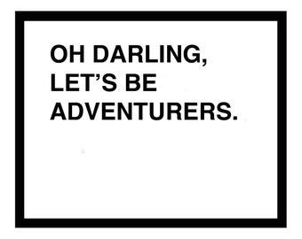 oh darling lets be adventurers medium - black