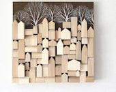 Wood Wall Sculpture - One of a Kind Original Art