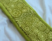 Ready to Ship // Chartreuse print on Chartreuse Hand Dyed Burp Cloth