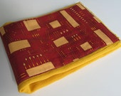 Ready to Ship // Circuit Boards on Gold Hand Dyed Burp Cloth