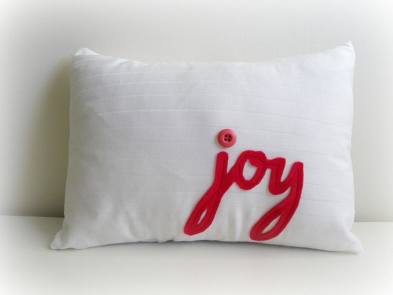 Joy Pillow Cover- Pink- Ready to ship SALE