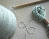 Green and White Bakers Twine -- 100 yards