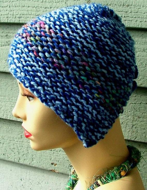 Lite Blue Dark Blue V Hat