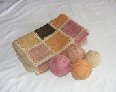 Crocheted Afghan Wool Baby Blanket