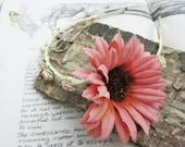 Pink Gerbera Headband Tiara with tiny flowers