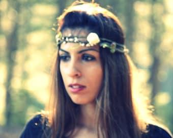 ARIA - Whimsical double woodland Crown - Amazonian Head Wreath, headpiece, headband, tiara, crown, halo