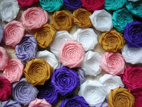 Wholesale Fabric Flowers, Fabric flowers bulk, bridal flowers, headband flowers, flowers for crafts