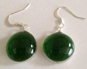 Glass glob earrings