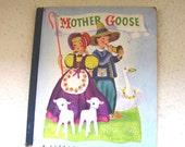 Vintage 1945 book Mother Goose A Little Golden Book