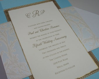 Wedding Invitation Memory Keepsake Box-Custom Made-3