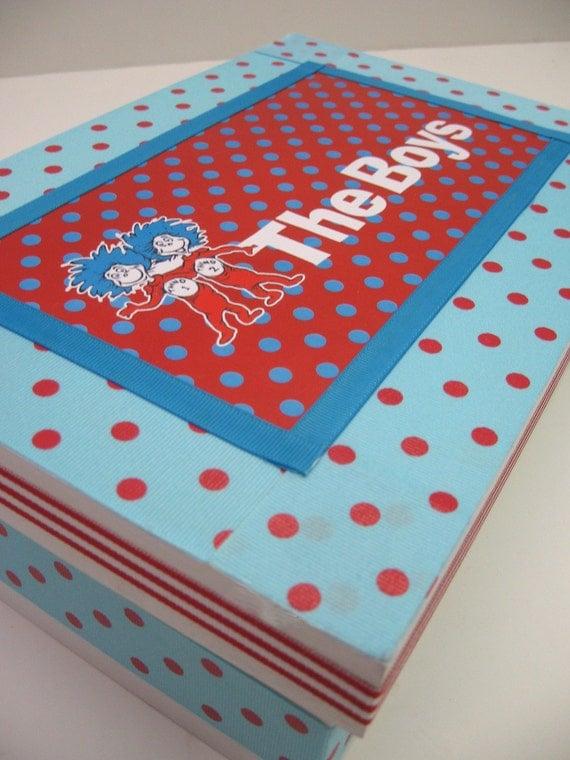 Thing 1 and Thing 2 Twin Keepsake Box