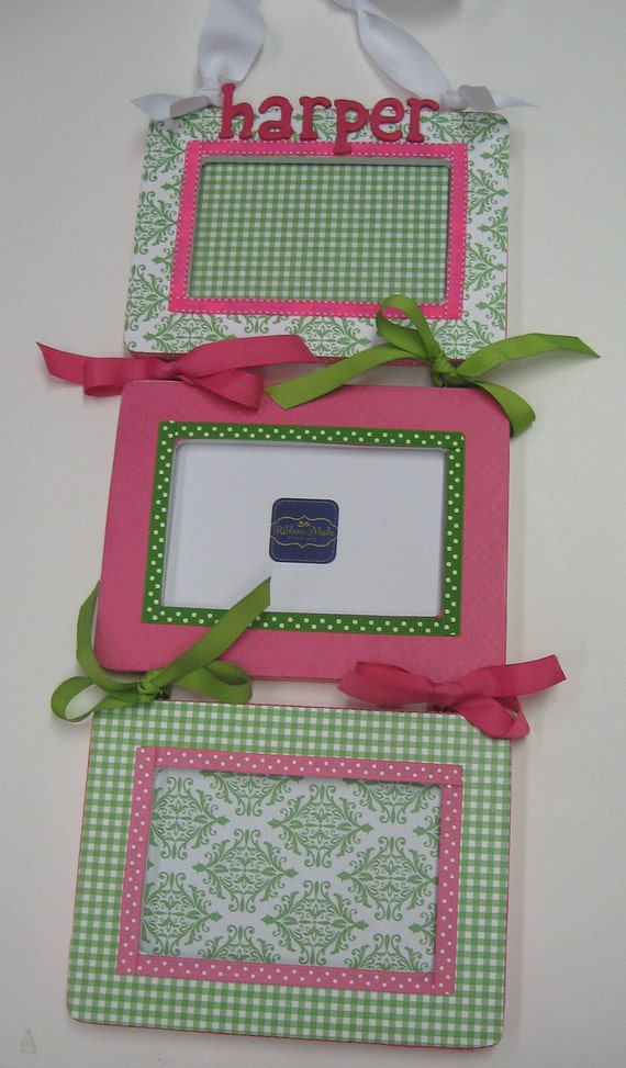 Triple Frame - Damask and Solid to match decor