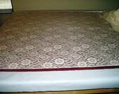 Victorian  Nottingham Lace Vintage Cotton  Ecru 210 TWO YARDS