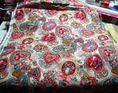 Victorian Antique Lace and Hearts Cotton Fabric by VIP Cranston Printworks 1993 or 1994 Two Yards