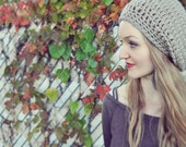 Chunky Slouchy Hat in Taupe
