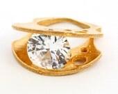 Unique Gemstone Ring. CZ ...