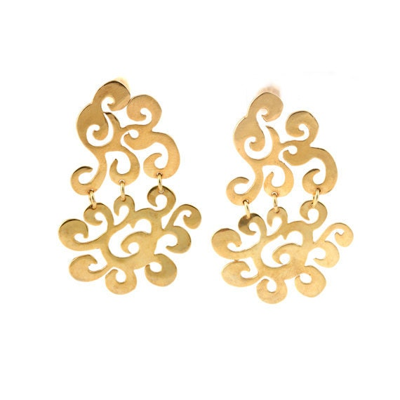 Bridal Earrings Gold Wedding Earrings Wedding Jewelry Classic Earrings 925 Earrings Wedding Accessories