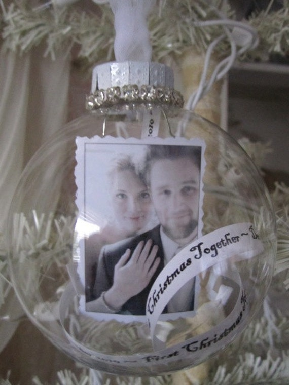 personalized first christmas together ornament wedding